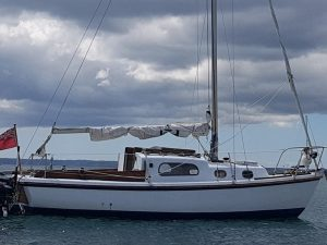 sailboat on the water after renovation